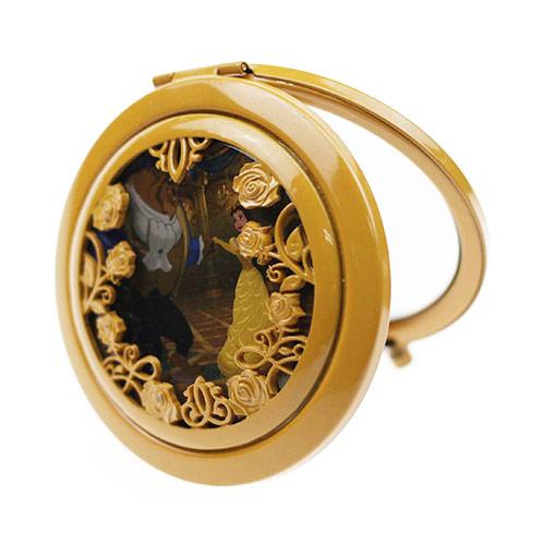 欧式复古礼品化妆镜定制 环保金属双面小镜子