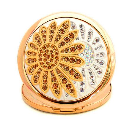 水晶化妆镜生产厂家 贴钻化妆镜 高档化妆镜