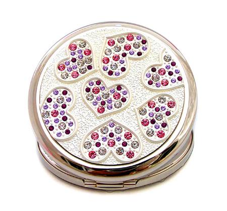 铁质化妆镜批发 贴钻化妆镜 金属化妆镜生产厂家