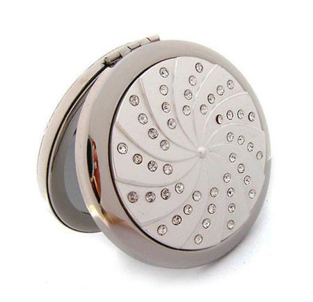 合金面化妆镜 贴钻化妆镜 双面化妆镜生产厂家