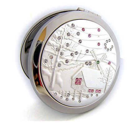 贴钻化妆镜 礼品化妆镜 简易化妆镜生产厂家