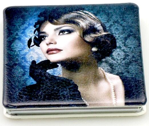 PU皮革化妆镜 DAML-PUJ1530111 化妆镜定制