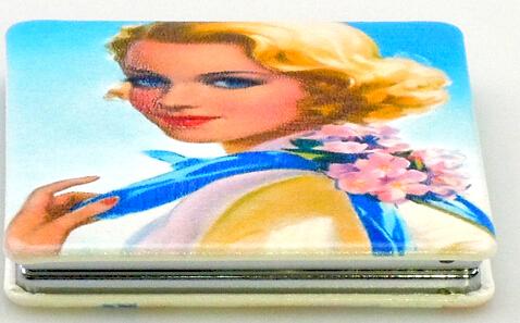 PU皮革化妆镜 DAML-PUJ1530112 化妆镜定制
