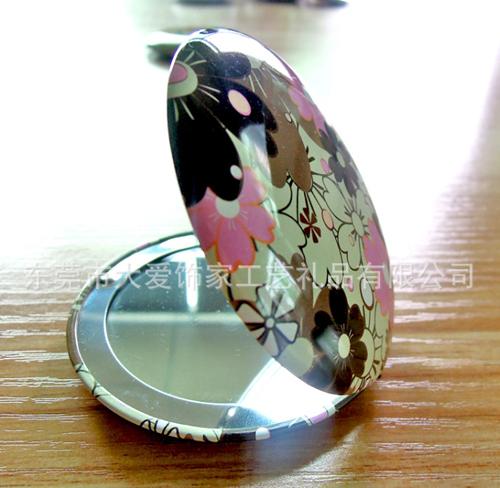 铝质化妆镜 促销礼品化妆镜 水钻镜子 皮革化妆镜生产厂家