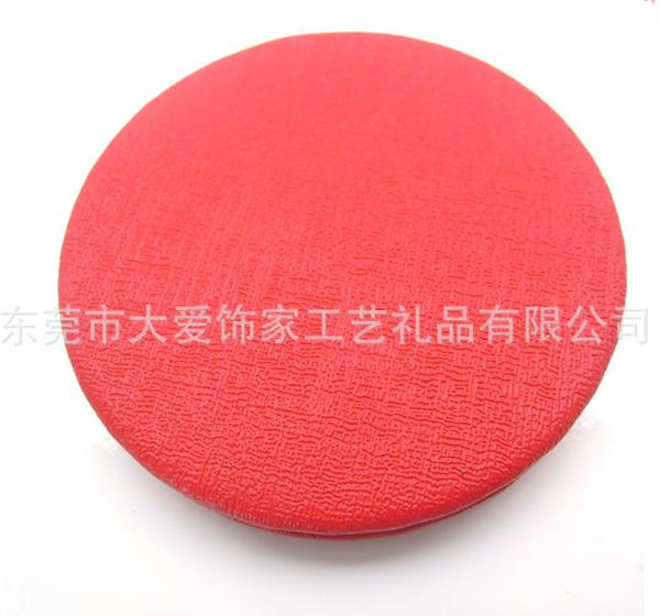塑料圆形化妆镜 结婚镜子 红色化妆小镜子 厂家定制化妆镜