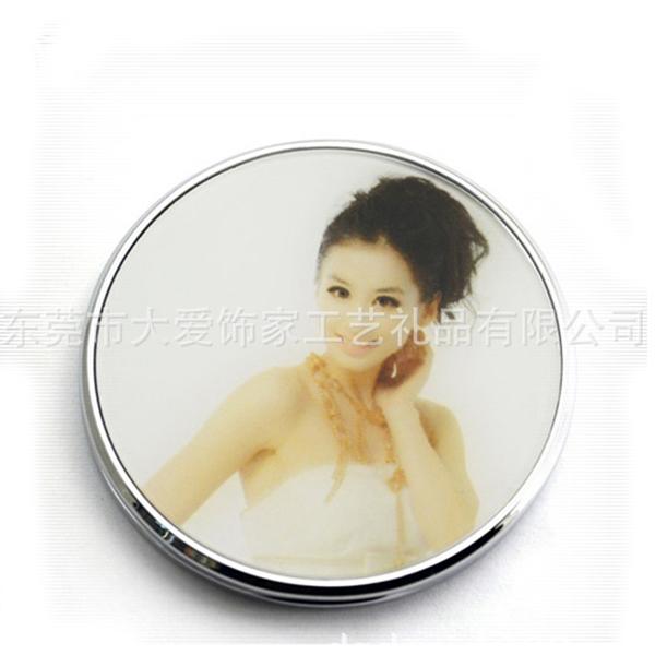 锌合金化妆镜厂家 双面化妆镜 礼品镜子定制