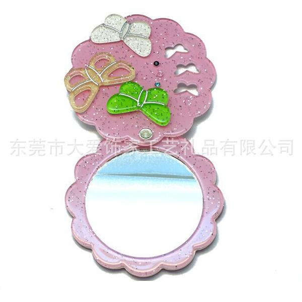 环保塑料亚克力折叠化妆镜