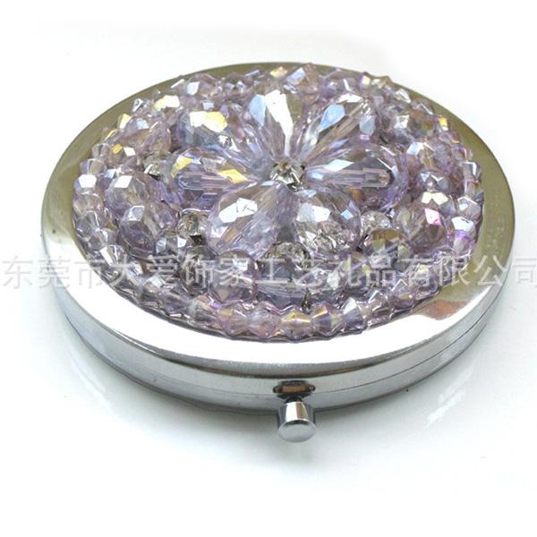 镶珍珠环保化妆镜
