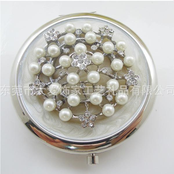 滴胶镶钻环保创意化妆镜
