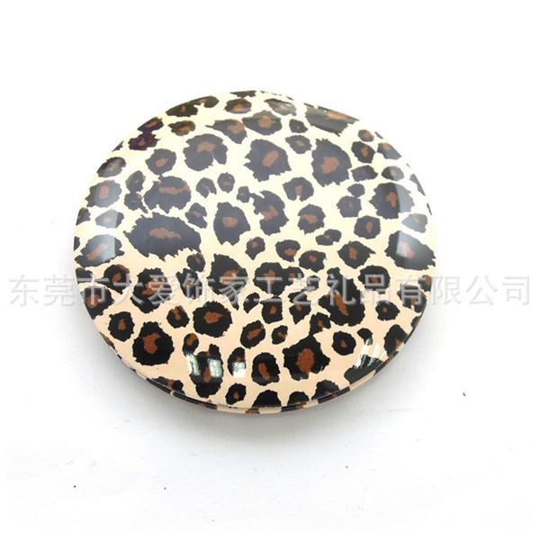 畅销时尚豹纹化妆镜