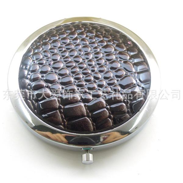 PU皮革化妆镜生产厂家 礼品化妆镜