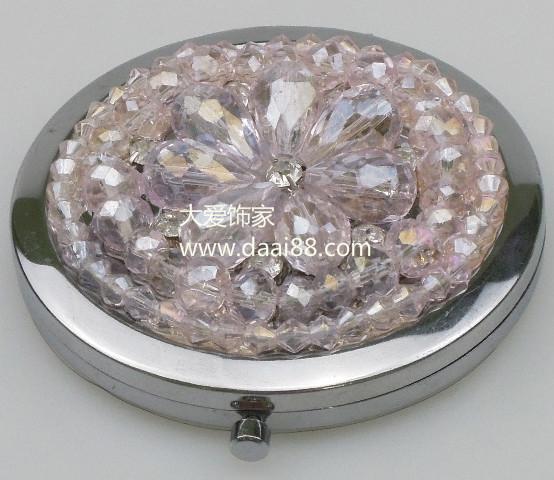 韩式化妆镜,新款韩式镶钻化妆镜