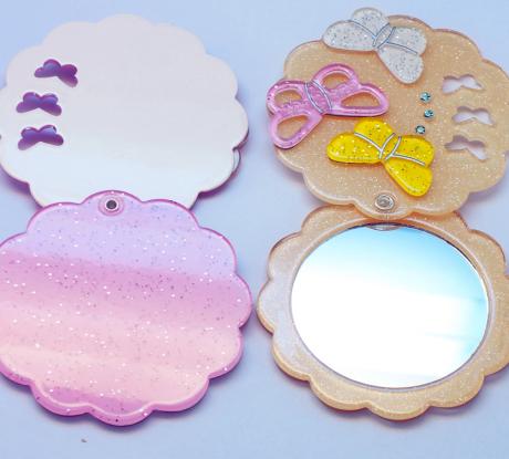 亚克力化妆镜 便携小镜子