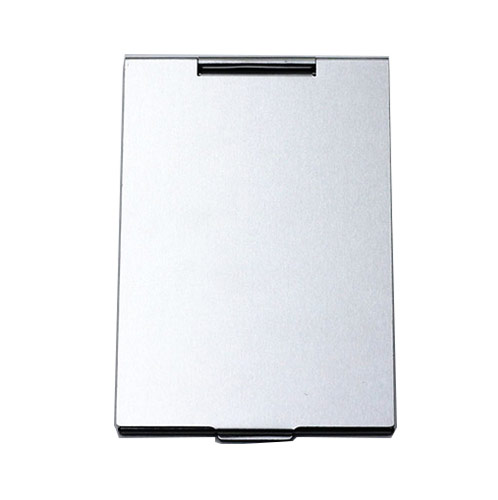 70*100mm银色广告促销铝化妆镜  折叠超薄便携小镜子