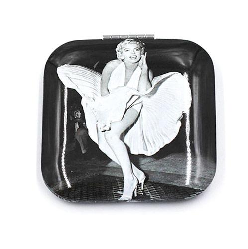 明星款广告促销铝化妆镜  金属礼品镜