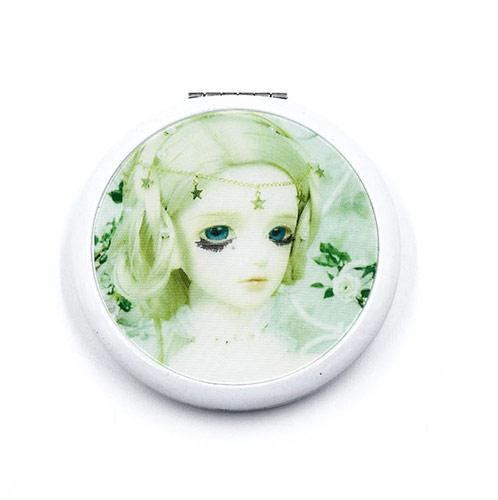 卡通公主广告促销铝化妆镜 白色礼品小镜子