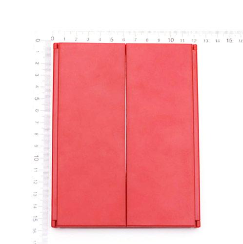 红色折叠塑料化妆镜工厂