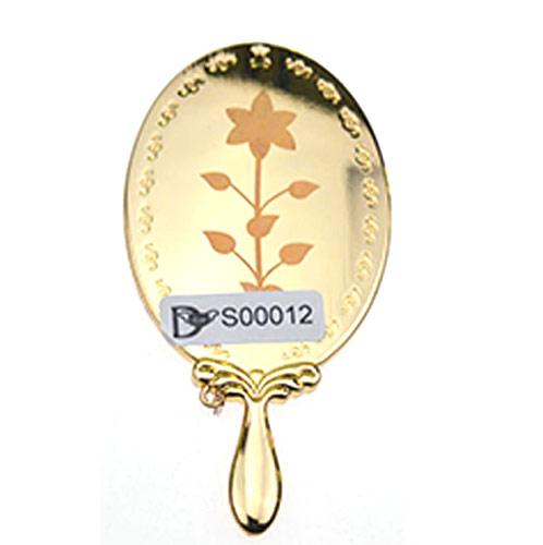 手柄锌合金礼品化妆镜生产  经典单面金属化妆镜