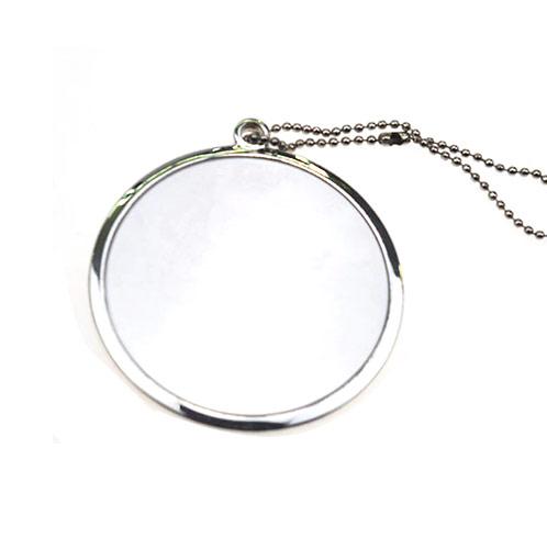 单面镶钻锌合金礼品化妆镜定制  金属礼品镜