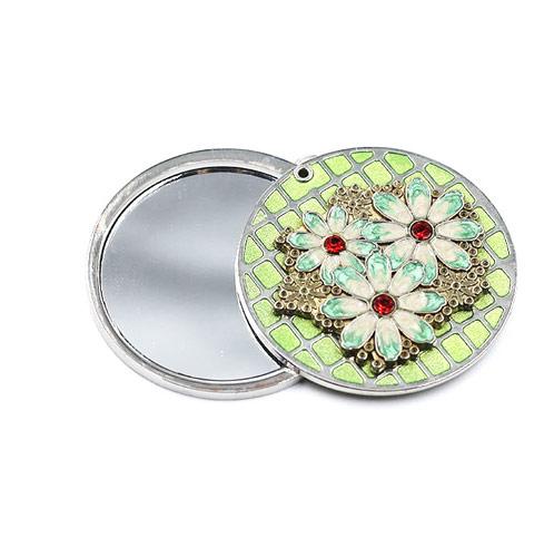 圆形便携促销随身镜定制  金属锌合金礼品镜子