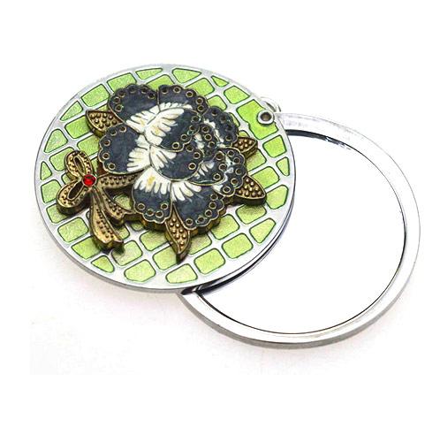高档单面锌合金促销化妆镜生产  金属礼品镜
