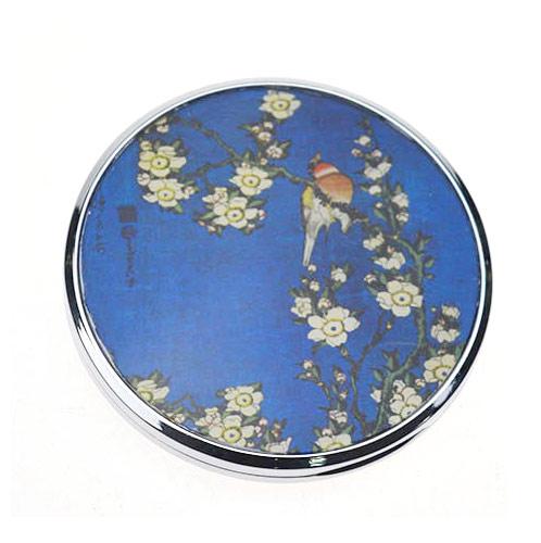 中国风礼品随身镜生产  金属小镜子定制