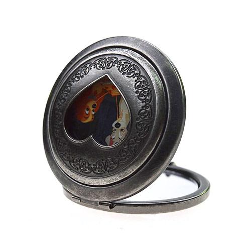 迪斯尼促销化妆镜生产  双面金属小镜子厂家