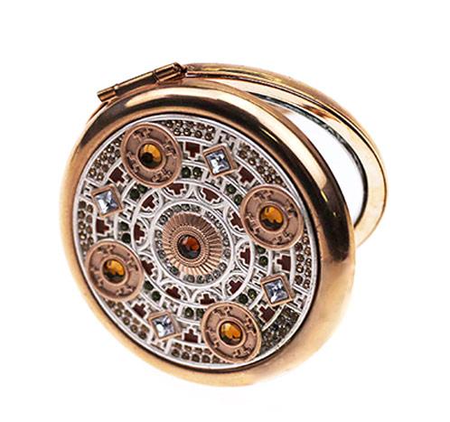 锌合金促销化妆镜生产   随身小礼品镜批发