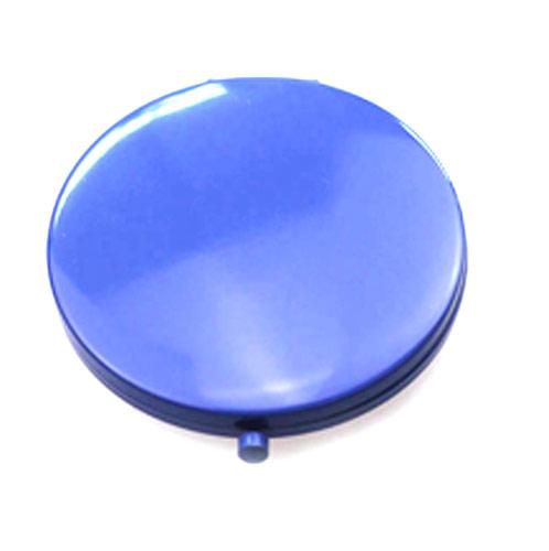 天空蓝锌合金随身镜  环保双面金属镜