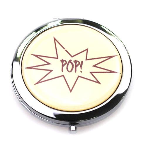 折叠立式便携化妆镜 高档金属礼品镜