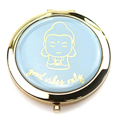圆形双面锌合金礼品化妆镜定制  高档金属化妆镜厂家