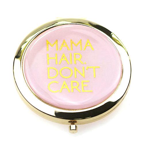 粉色滴胶锌合金随身化妆镜  促销随身镜定制