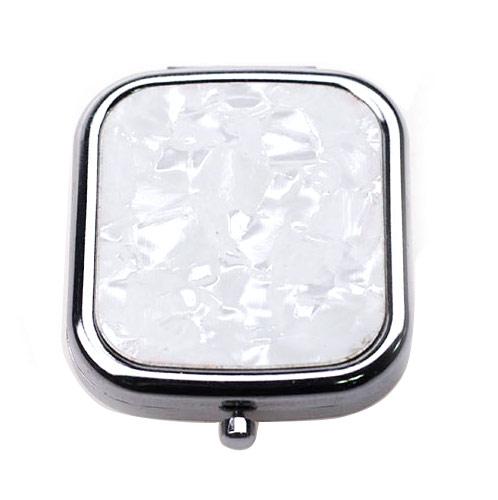 方形塑料化妆镜  双面折叠塑料镜