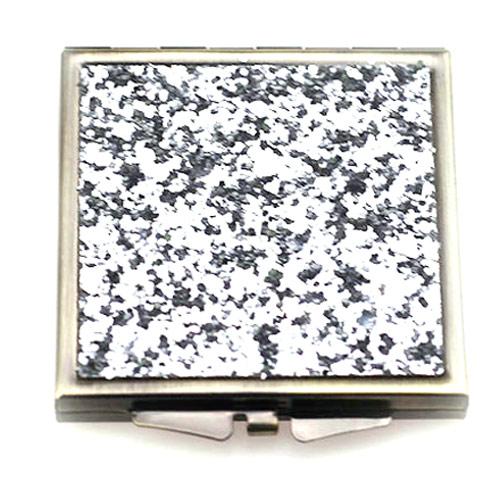 高档方形贴纸化妆镜  金属折叠小镜子