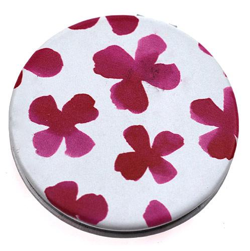 PU皮革折叠化妆镜  双面圆形美容小镜子