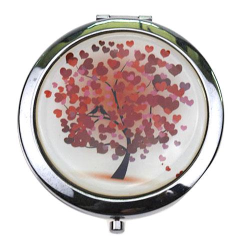 化妆赠品折叠化妆镜  高档印刷滴胶小镜子