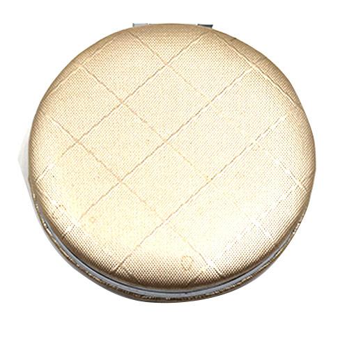 和风格状布艺化妆镜 便携式不锈铁小镜子 工厂定制