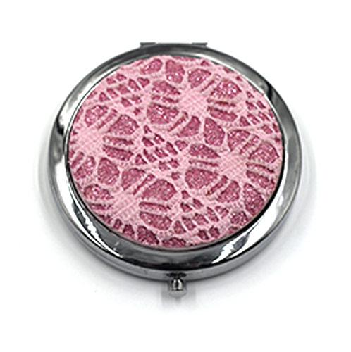 厂家定制布艺化妆镜 礼品化妆镜 圆形小镜子
