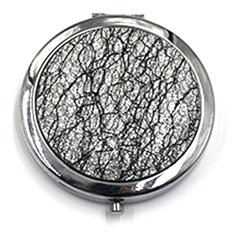 高档布艺化妆镜 不锈铁礼品镜定制 化妆品赠品镜