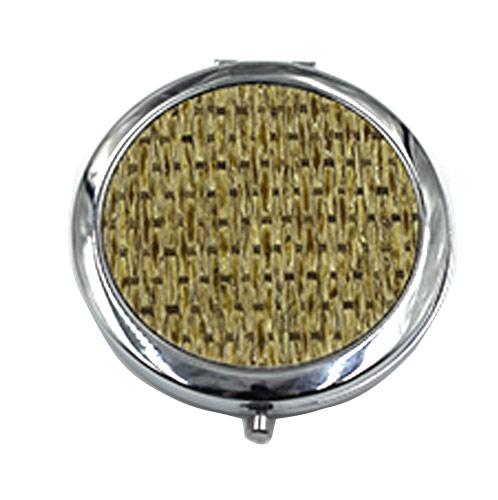 布艺面礼品小镜子 圆形不锈铁化妆镜 定制厂家