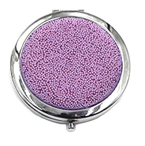 经典紫随身布艺化妆镜 折叠旅行镜 礼品女士镜定制