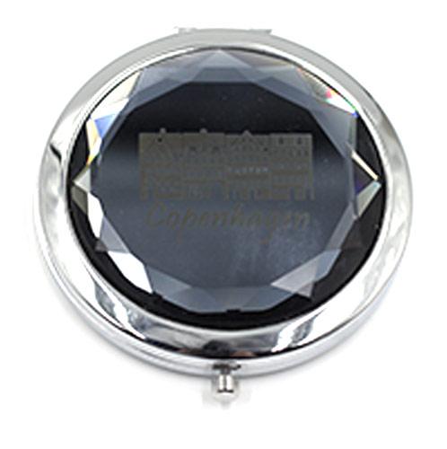 大爱水晶化妆镜 折叠双面梳妆镜 化妆品赠品