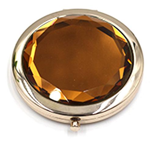 促销礼品双面化妆镜 大爱水晶镜定制 来样加工