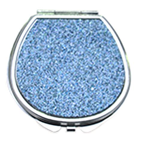 广告促销不锈铁化妆镜  浅蓝贴纸礼品镜 品牌定制