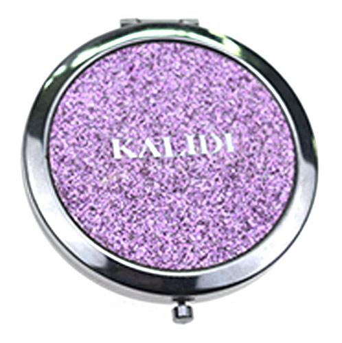 促销赠品金属化妆镜 粉紫经典圆形双面镜