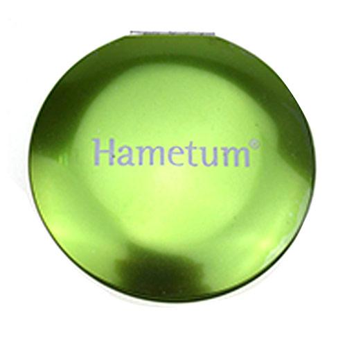 礼品鋁化妆镜 OEM品牌定制铝镜  绿色铝圆镜