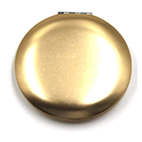广告促销便携化妆镜 金色铝镜广告镜  厂家定制