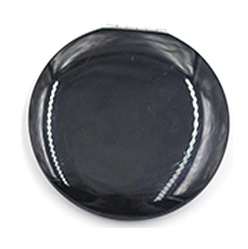 商务馈赠铝合金化妆镜  简易黑色圆形镜