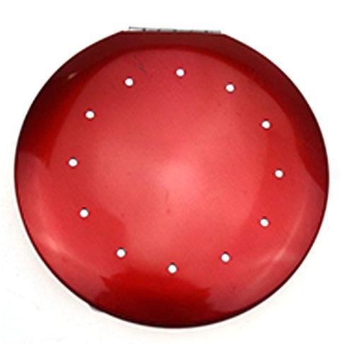 促销化妆镜生产 红色镶钻圆形礼品镜