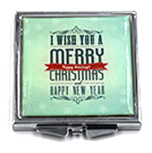 礼品方形化妆镜定制 方形贴纸滴胶化妆镜生产
